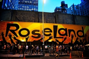 The unimaginable but consistently long line outside of free Roseland events. (Note that this mural is on the block parallel to the entrance)